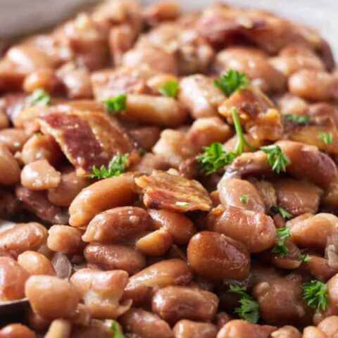 Close up photo of pinto beans made in the Instant Pot.