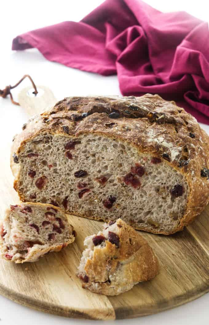 No Knead Cranberry Walnut Bread Savor The Best