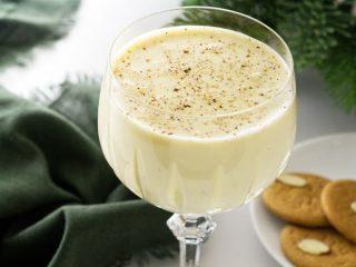 Glass of eggnog...no alcohol