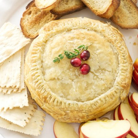 overview of baked brie in puff pastry