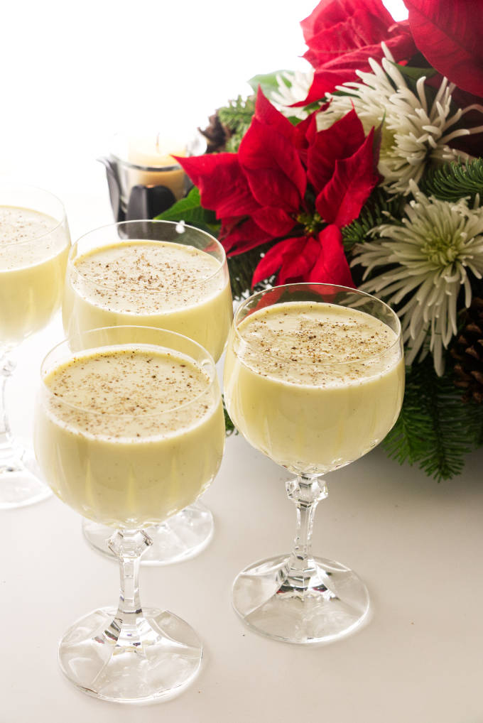 Four servings of Holiday Eggnog, non-alcoholic