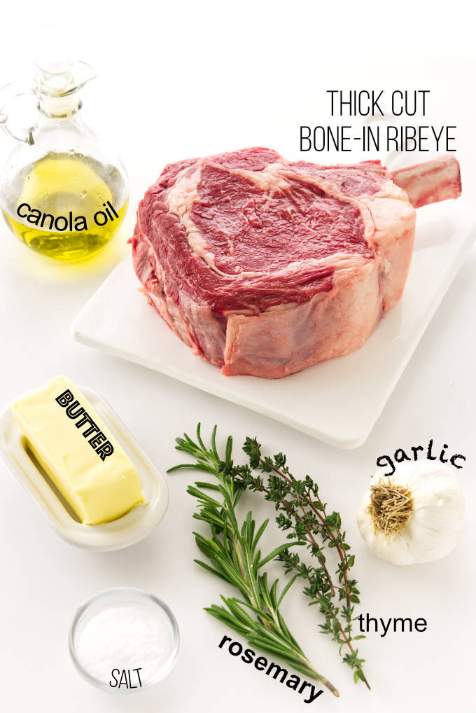 Ingredient list for cowboy steak recipe
