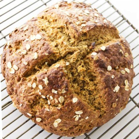 Close up view of Irish Brown Soda Bread