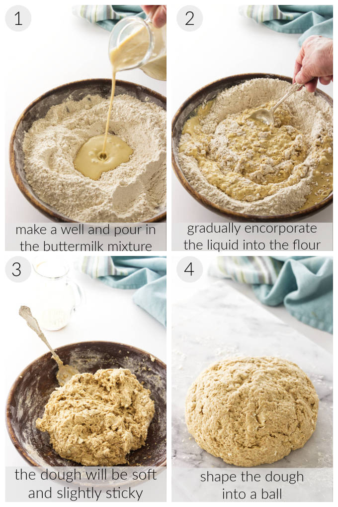 Processing photos of Irish Brown Soda Bread