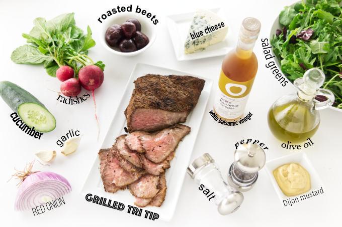 Ingredient photo for tri-tip salad