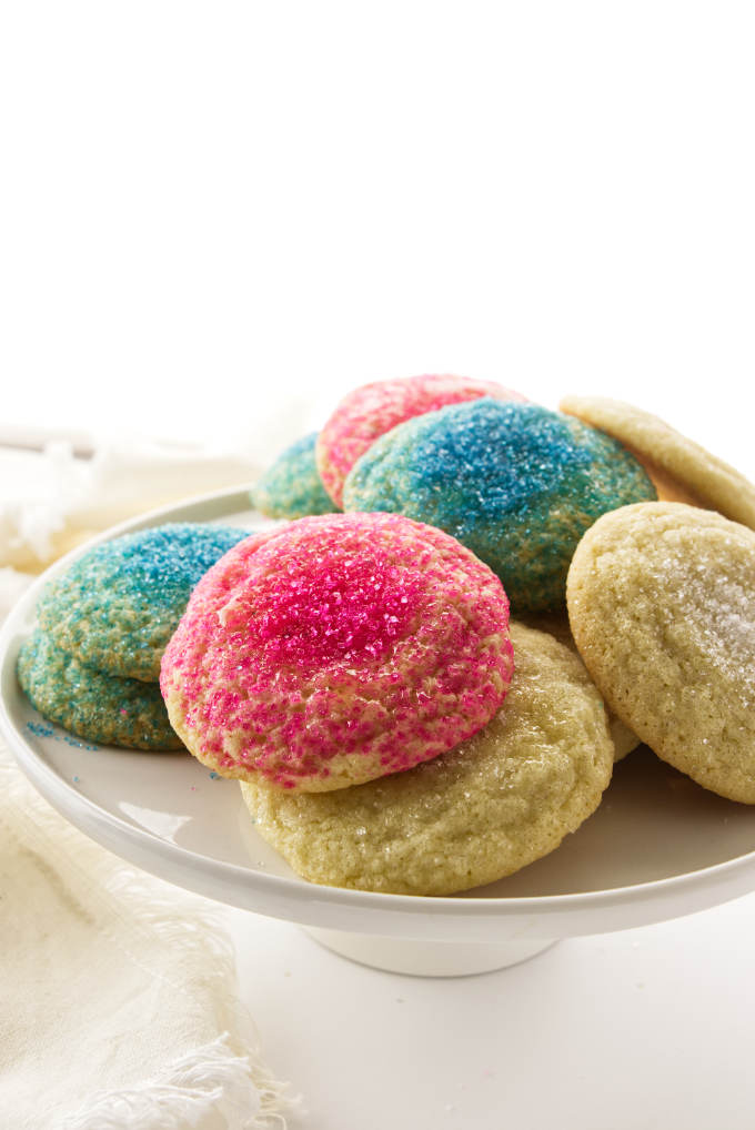 Soft sugar cookies on a plate.