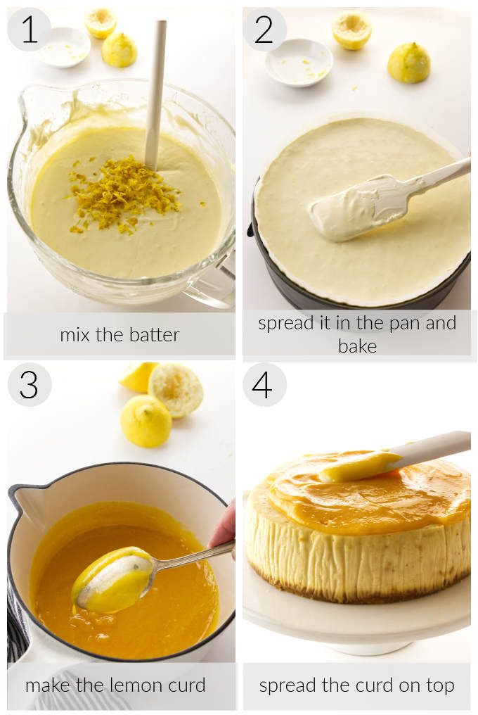 college of process for lemon cheesecake and lemon curd