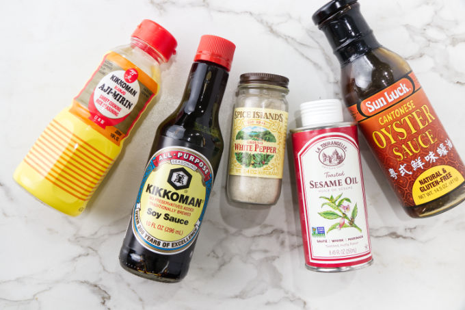 Ingredients used to make sauce for fried rice.
